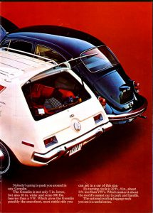 1970 Ad comparing the Gremlin and VW Beetle