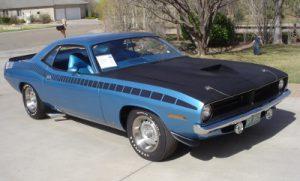 1972 Blue AAR Cuda