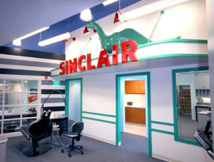 Sinclair Gas Station Style Interior