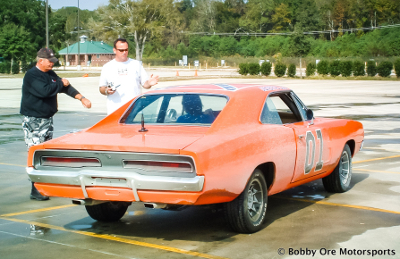 Preparing for Dukes of Hazzard Stunt