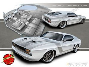 Goolsby Pegasus 1971 Mustang concept by Hermance Design