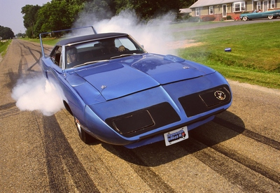 Tony's Blue Plymouth Superbird