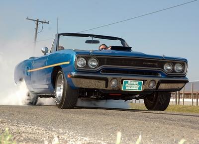 Tonys Blue Roadrunner Convertible