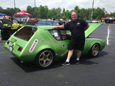 Mark Greenisen with his pro-touring AMC Gremlin