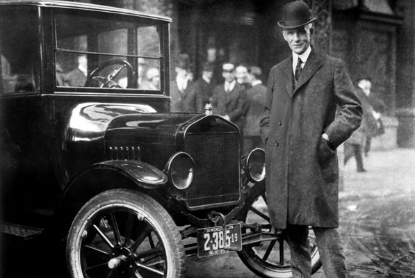 Henry Ford and his Model T (photo from media.ford.com)