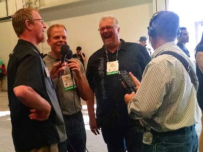 Scott Bowers, Larry Callahan, Bernie MacPartland, and Rob Kibbe at SEMA 2016