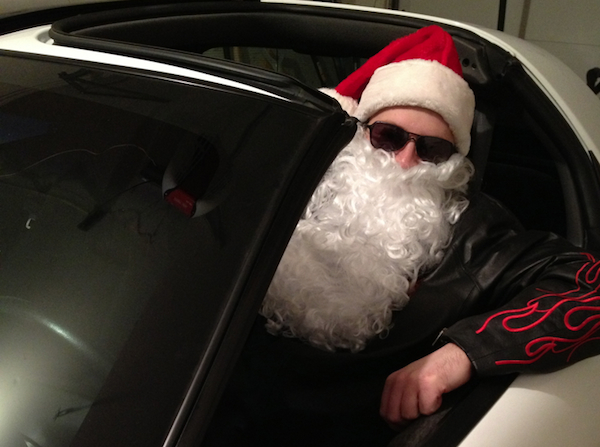 Santa and his inconspicuous F Body.